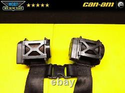 17-21 OEM Can Am Maverick X3 Retractable Seat Belts 4 Point Safety Belts Harness
