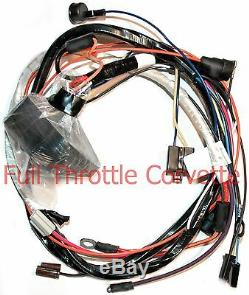 1975 Corvette Engine Wiring Harness Auto Without Seatbelt Interlock System