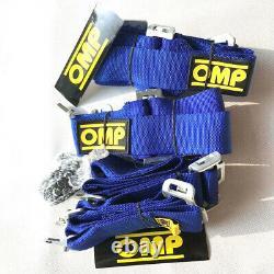 1Pcs Universal Blue 4 Point Camlock Quick Release Racing Car Seat Belt Harness