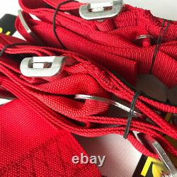 1Pcs Universal Red 4 Point Camlock Quick Release Racing Car Seat Belt Harness