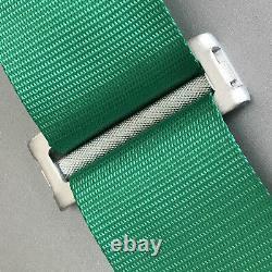 2X Green Racing Harness 5 Point 3 Inch Metal Cam Lock Heavy Duty Snap Seat Belt