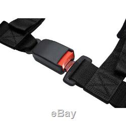 2'' 4 Point Racing Safety Harness Ultra Soft Heavy Duty Shoulder Pads Seat Belt