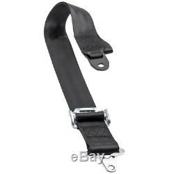 2 Sets 4-Point 2 Strap Camlock Racing Safety Seat Belt Harness Seatbelt Black