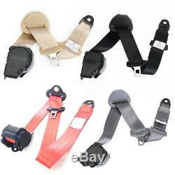 2 Sets Adjustable Seat Safety Belt Harness Car Truck Lap Belt Universal 3 Point
