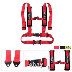 2 Universal 4 Point Sport Quick Release Safety Seat Belt Harness Racing Car