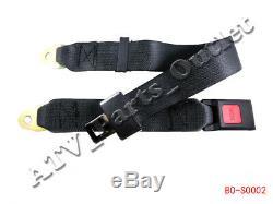 2 point Seat Saftey Belt Harness Kit Go Kart UTV Buggie Single Double ATV
