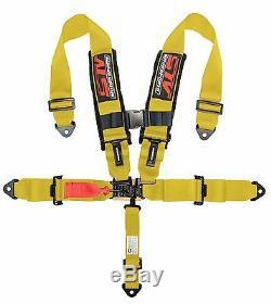 2 x STV Motorsports Racing Seat Belt Harness 5 Point 3 Polaris RZR (YELLOW)