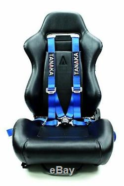 2 x Tanaka Blue 4-point Camlock Racing Harness Seat Belt with FREE shoulder strap