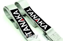 2 x Tanaka Grey 4-point Camlock Racing Harness Seat Belt with FREE shoulder strap