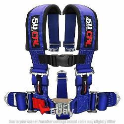 3'' 5 Point Harness Seat Belt Polaris Can-am Sand Rail Buggy Blue Trophy Truck