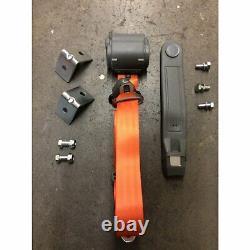 3 Point Retractable Orange Car Shoulder Seat Belt 1971-86 Jeep CJ YJ 4x4 Harness