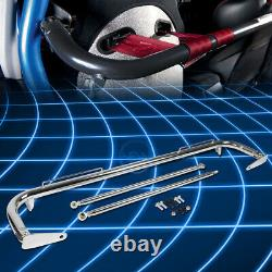 49Universal Racing Seat Belt Harness Bar Adjustable Chassis Support Rod Chrome