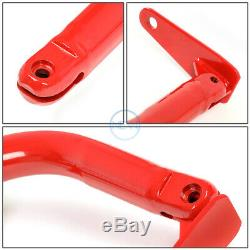 49Universal Racing Seat Belt Harness Bar Adjustable Chassis Support Rod Red
