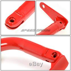 49 Stainless Steel Racing Safety Seat Belt Chassis Roll Harness Bar Rod Red