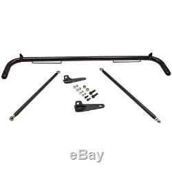 49 Universal Racing Safety Seat Belt Roll Harness Bar Rod Black Stainless Steel