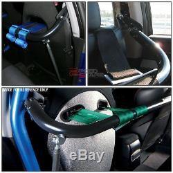 49black Racing Seat Belt Harness Tie Stabilize Bar Adjustable Support Rod+bolt