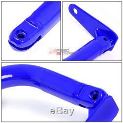 49blue Racing Seat Belt Harness Tie Stabilize Bar Adjustable Support Rod+bolt