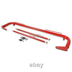 49red Racing Seat Belt Harness Tie Stabilize Bar Adjustable Support Rod+bolt