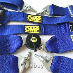 4 Point 2.75/W Camlock Universal Racing Seat Belt Harness Quick Release Blue