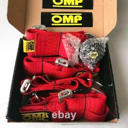 4 Point 2.75/W Camlock Universal Racing Seat Belt Harness Quick Release Red