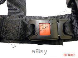 4 Point Adjustable Single Seat Belt Safety 50cc Harness Go Kart ATV UTV Quad