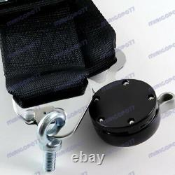 4 Point Black Camlock Quick Release Car Seat Belt Harness F OMP Racing Universal