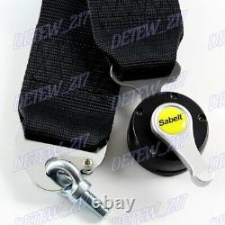 4 Point Black Camlock Quick Release Car Seat Belt Harness Racing Universal 3