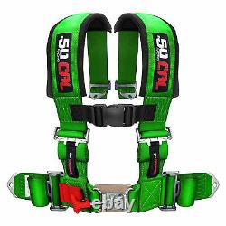 4 Point Green Safety Race Racing Seat Belt 2 inch Harness Kawasaki Teryx LE 750