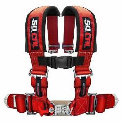 4 Point Safety Harness 2 Inch Seat Belt RZR 170 570 800 XP900 XP1000 S 900 Red