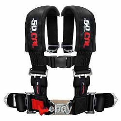 4 Point Safety Harness 3 Inch Seat Belt RZR 170 570 800 XP900 XP1000 S 900 Black