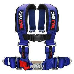 4 Point Safety Harness 3 Inch Seat Belt Sand Rail Dune Buggy Jeep Crawler Blue