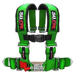 4 Point Safety Harness 3 Inch Seat Belt Sand Rail RZR UTV 4x4 Jeep Crawler Green