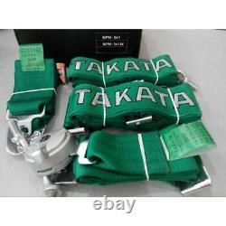 4 Point Snap-On 3 Takata Green W Camlock Racing Seat Belt Harness Universal x 2