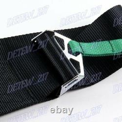 4 Point Snap-On 3 With Camlock Racing Seat Belt Harness Black TAK Universal New