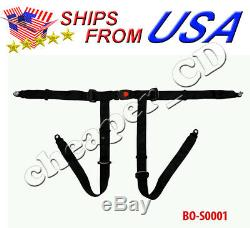 4 point Seat Safety Belt Harness Kit Single Quad Go Kart Buggie chinese racing