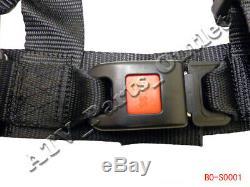 4 point Seat Saftey Belt Harness Kit Go Kart UTV Buggie Single Double Seat
