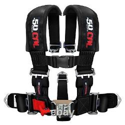 50Cal Racing Harness Seat Belt 5 Point 3 Black fits Mustang GT Fastback Cobra R