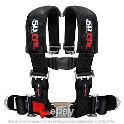 50 Caliber Racing 4 Point 2 Seat Belt Safety Harness Black for RZR XP1000 UTV