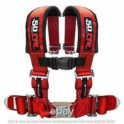 50 Caliber Racing 4 Point 2 Seat Belt Safety Harness Red for RZR XP1000 UTV