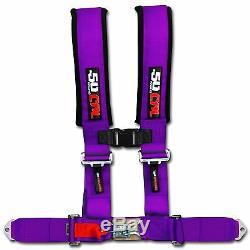 50 Caliber Racing Seat Belt Harness Purple 2 4 Point Ranger RZR XP1000 UTV ACE