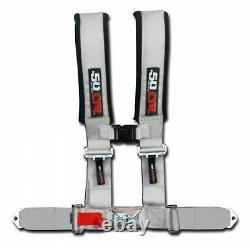 50 Caliber Racing Silver 4 Point Universal Race Harness Seat Belt Polaris Ranger