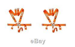 5 Point Racing Harness Orange Seat Belts PAIR Racequip 711041 Racing Harness RZR