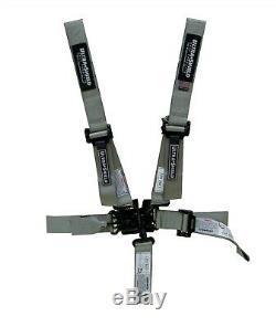 5 Point Racing Harness Seat Belts SILVER UltraShield Racing Belts RZR Razor Race