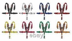 5 Point Racing Harness Sfi Latch & Link 2'' Seat Belt Yellow