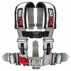 5 Point Safety Harness 2 Inch Seat Belt Commander Maverick General GRAY SILVER