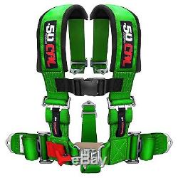 5 Point Safety Harness 3 Inch Seat Belt RZR 800 XP900 XP1000 S 900 Wildcat Green