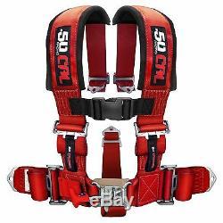 5 Point Safety Harness 3 Inch Seat Belt Rhino Viking YXZ1000R Ranger RZR RED