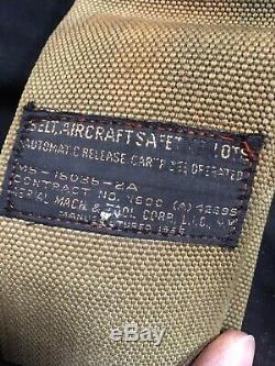 AIRCRAFT SEAT BELTS with INERTIA REEL SHOULDER HARNESS VTG BOMBER WARBIRD SCTA NR