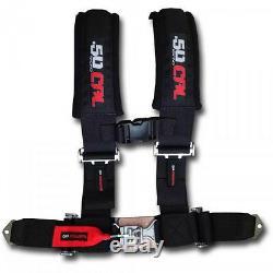 Black 2 4 Point Safety Seat Belt Harness Side by Side Kawasaki Teryx Teryx4 UTV