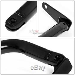 Black 49stainless Steel Chassis Harness Rod+black 4-pt Strap Camlock Seat Belt